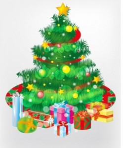 free_christmas_tree_and_gift_boxes_vector_graphic_267161